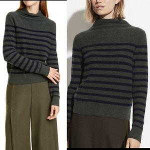 Vince Boiled Cashmere Breton Sweater